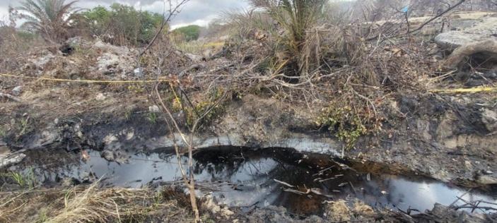 [Photos] Catastrophe écologique en cours à Les Salines, Port Louis: une rivière d'hydrocarbures obrservée