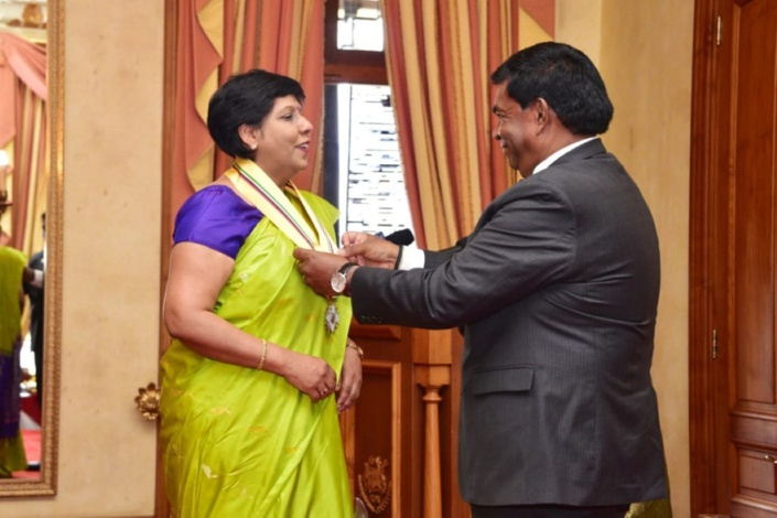 State House : Leela Devi Dookhun-Luchoomun reçoit le Grand Commander of the Star and Key of the Indian Ocean