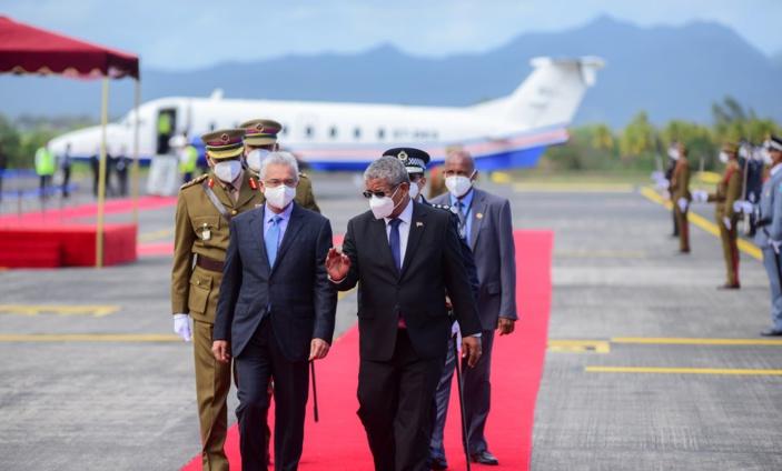 Le président des Seychelles Wavel Ramkalawan en visite officielle à Maurice