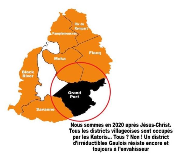 Vu sur le Net : Grand-Port est désormais le petit village dans une zone contrôlée par les Katoris
