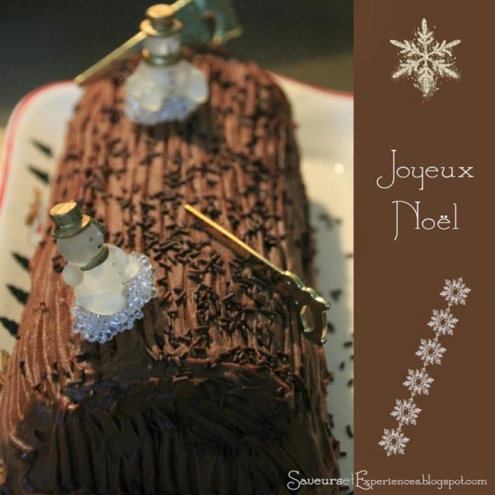 La recette de Emmanuelle : La bûche chocolat pralin et rhum!