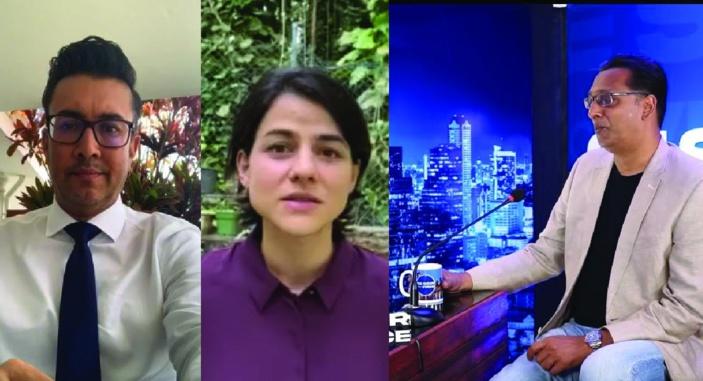 Joanna Bérenger, Shakeel Mohamed et Roshi Badhain dépoussièrent la communication politique dans l'ère du numérique