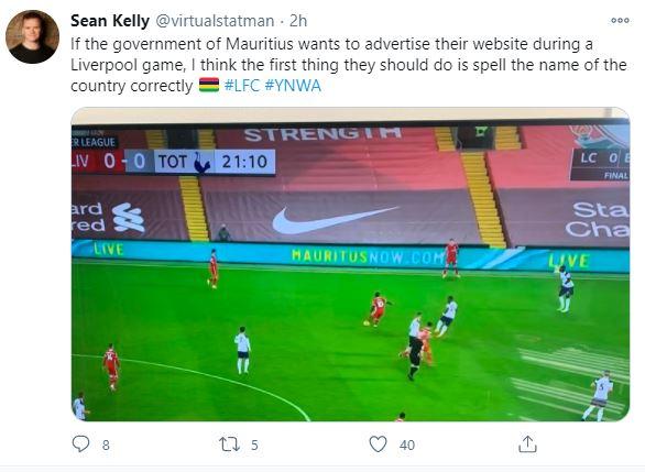 """Match de foot Liverpool : pub à coup de millions de roupies avec en prime """"Mauritus"""""""