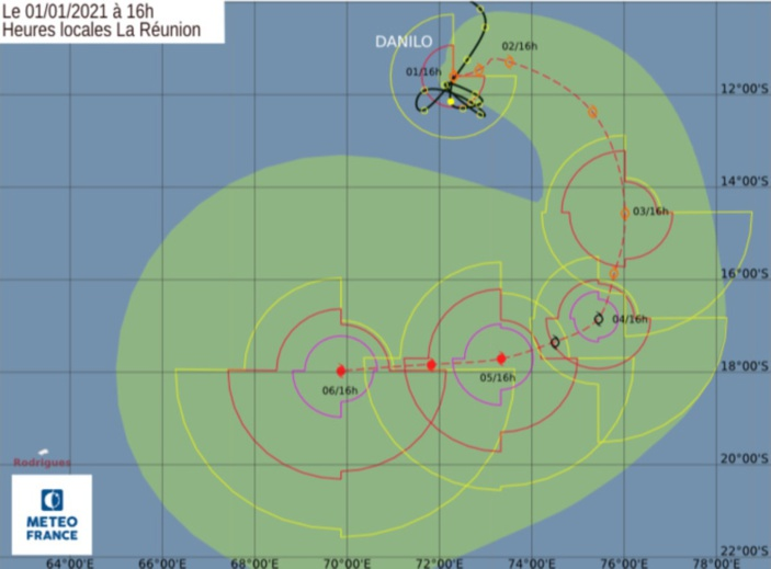 La tempête tropicale Danilo et la future dépression Eloïse devraient se renforcer dans les prochains jours