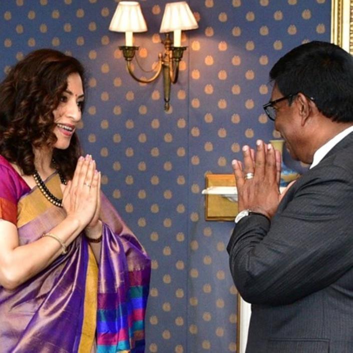 Le Haut-Commissaire de l'Inde à Maurice, Kottapally Nandini Singla a présenté ses lettre de créances