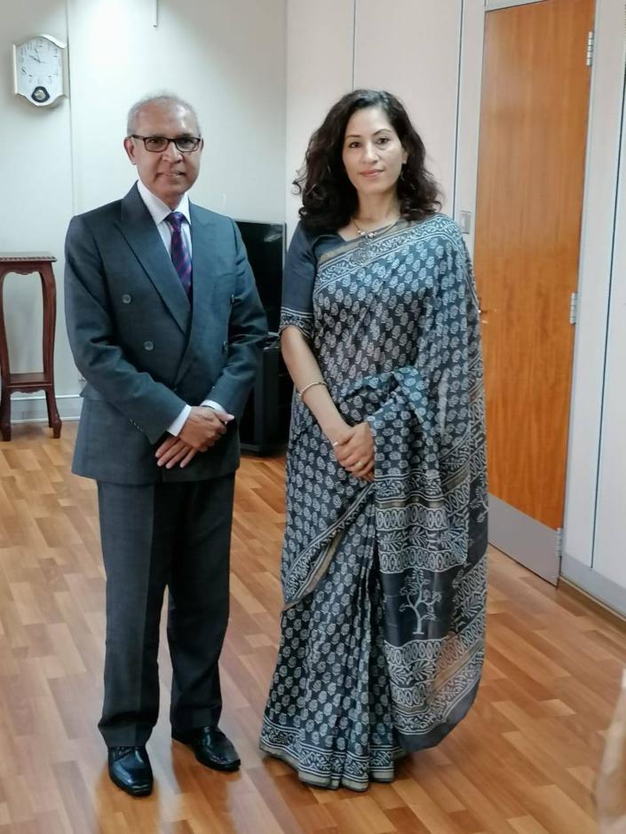 [Diaporama] La Haut commissaire de l'Inde, Mme K. Nandini Singla, fait la tournée des visites diplomatiques