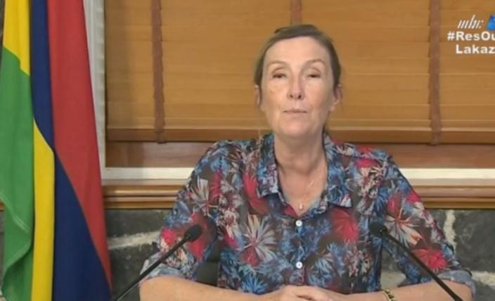 Le Dr Catherine Gaud aperçue lors d'un vol à destination de Maurice