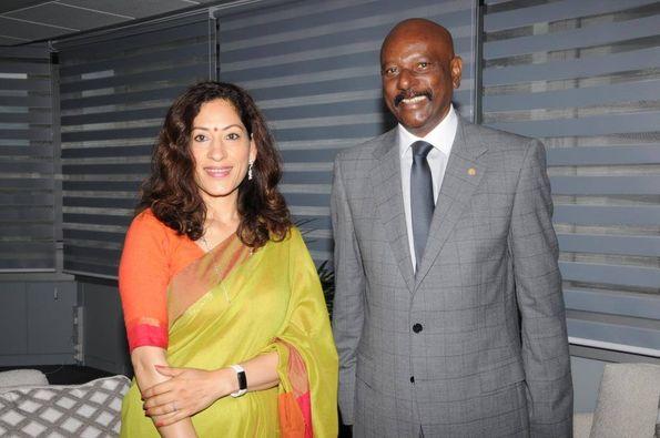 [Diaporama] Défilé politique auprès de la haut-commissaire de l'Inde à Maurice, K. Nandini Singla
