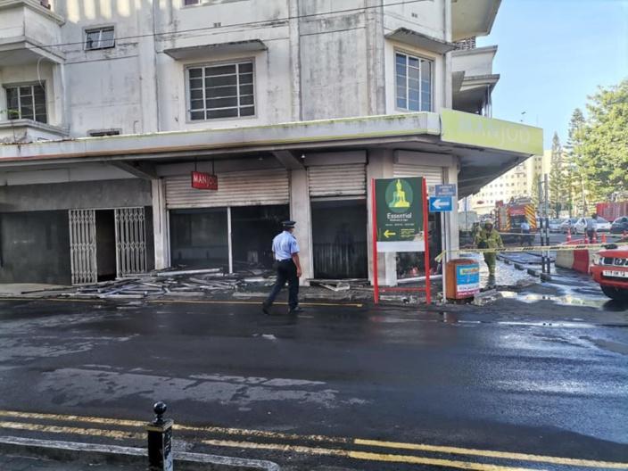 Quatre-Bornes : Incendie dans le bâtiment de Manjoo ce mercredi matin