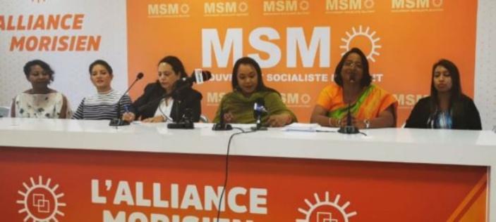 L'aile féminine du MSM aux anges : « C'est le MSM qui donne l'opportunité aux femmes de montrer leur courage »
