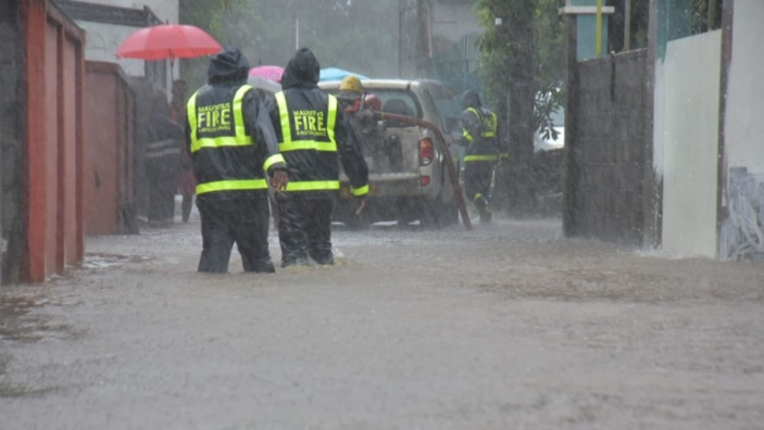 Intempéries dans le Sud de l'île : montée des eaux et maisons inondées