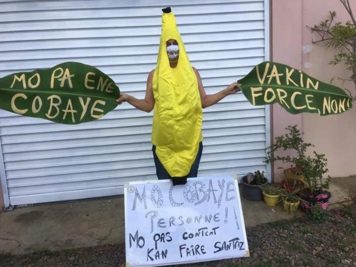 Protestation contre la vaccination forcée : Ingrid Charoux se met dans la peau d'une République bananière