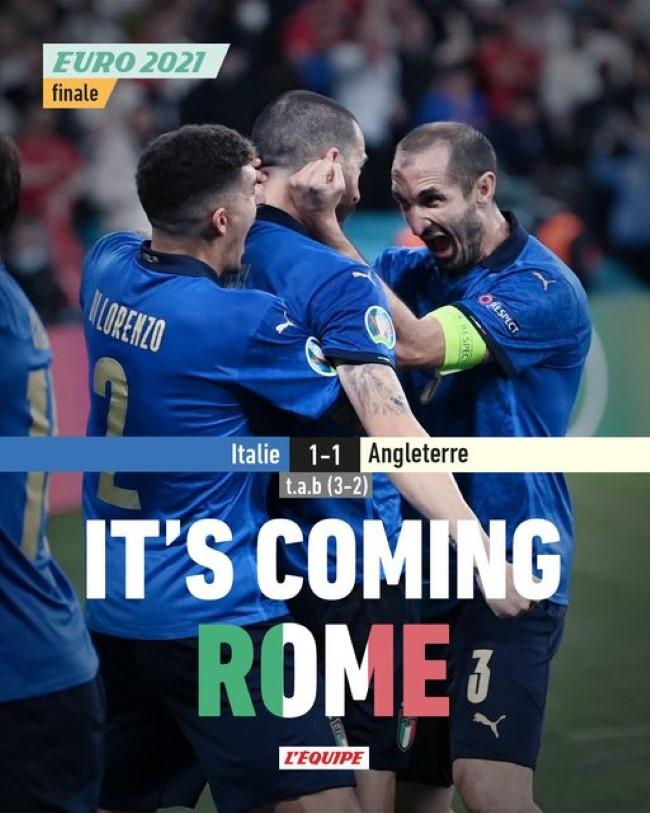 L'Italie remporte l'Euro 2020 !