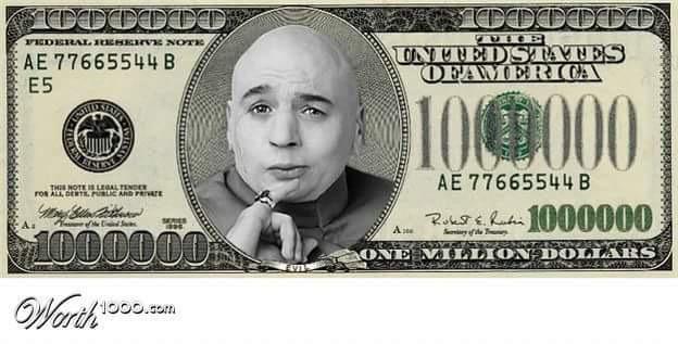 One million dollars baby !