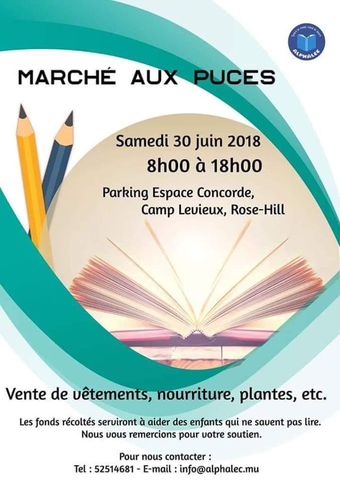 Alphalec organise un marché aux puces samedi 30 juin. Soyez au rendez-vous!