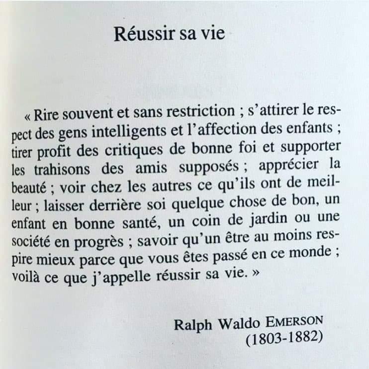 Citation : Ralph Waldo Emerson, essayiste, philosophe et poète américain