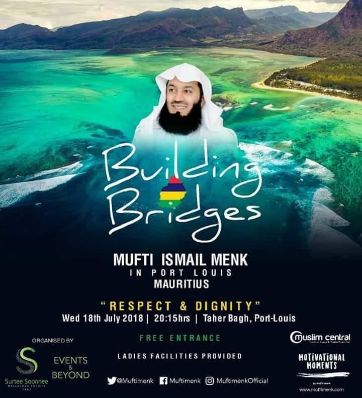Le prédicateur islamique Mufti Menk, interdit à Singapour, est annoncé à Maurice