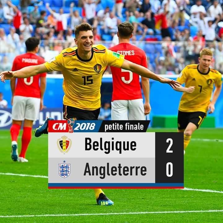 La Belgique s'offre la 3e place du Mondial face à l'Angleterre.
