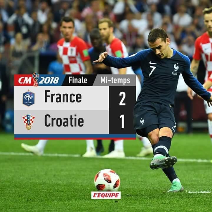 Mondial 2018. Les Bleus mènent à la pause
