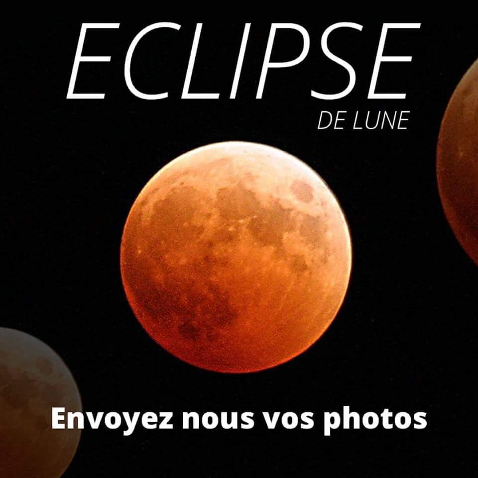 [Envoyez nous vos photos] La plus longue éclipse de Lune du XX1e siècle ce vendredi
