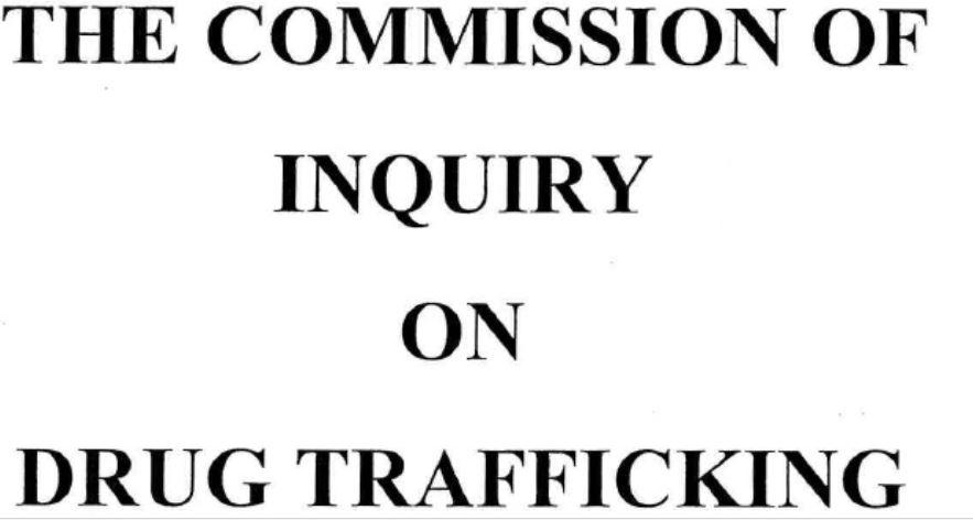 Le rapport de la commission de la drogue dans son intégralité disponible