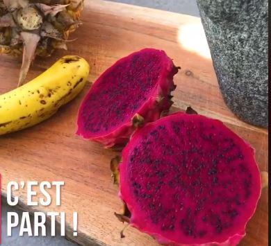 [Vidéo] La recette de Pilon Pilé : le Milkshake Pitaya Ananas Banane