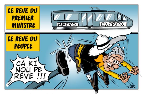 """[KOK] Le dessin du jour : """" Mon rêve du Metro Express deviendra réalité avec votre soutien"""""""