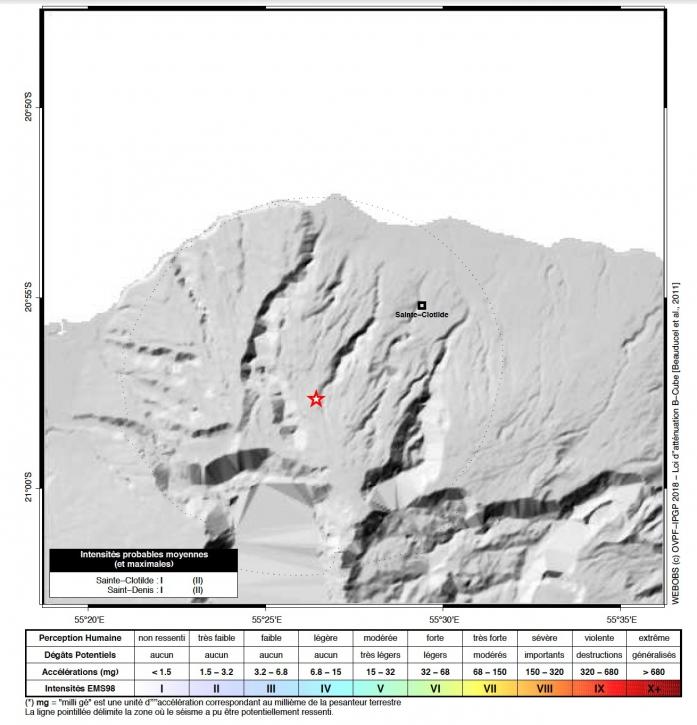 Ile de la Réunion : un séisme ressenti dans le Nord de l'île