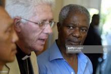 Souvenir en images de Kofi Annan à l'île Maurice en janvier 2005