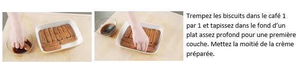 Répétez l'opération avec d'autres biscuits et formez une seconde couche et étalez une autre couche de crème…