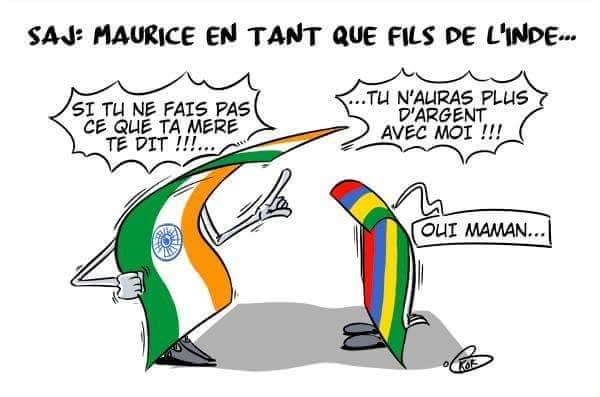 """[KOK] Le dessin du jour : Maurice """"fils"""" de l'Inde"""