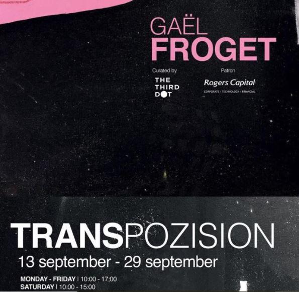 [Culture] TRANSPOZISION - l'exposition solo de Gaël Froget