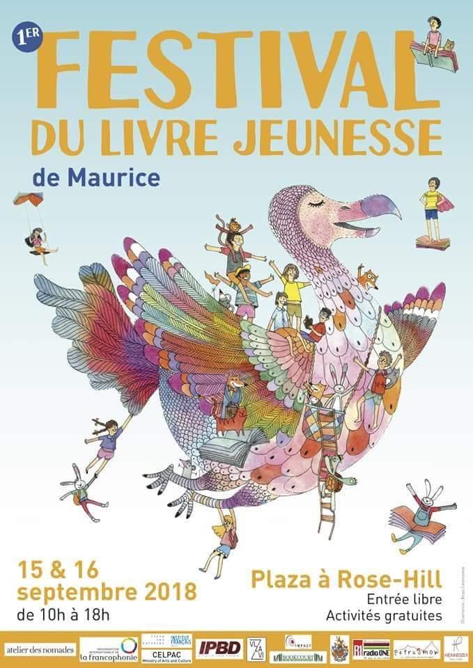 Le premier Festival du Livre Jeunesse de Maurice le 15 & 16 septembre au Plaza à Rose-hill