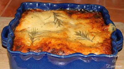 La recette d'Emmanuelle : Lasagnes: Saumon Fumé, Courgettes, Tomates Confites & Romarin