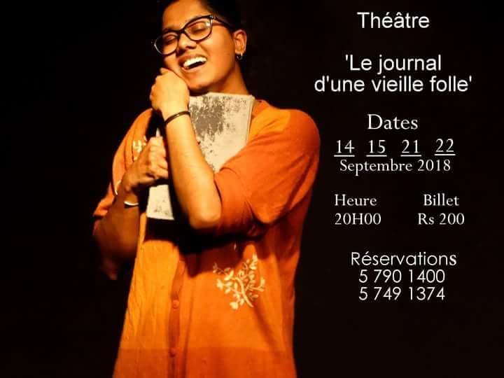[Vidéo] L'adaptation Le Journal d'une Vieille Folle de Umar Timol au théâtre