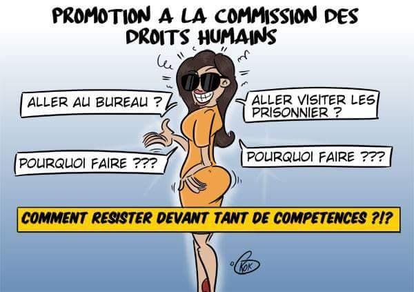 [KOK] Le dessin du jour : Promotion à la commission des droits humains