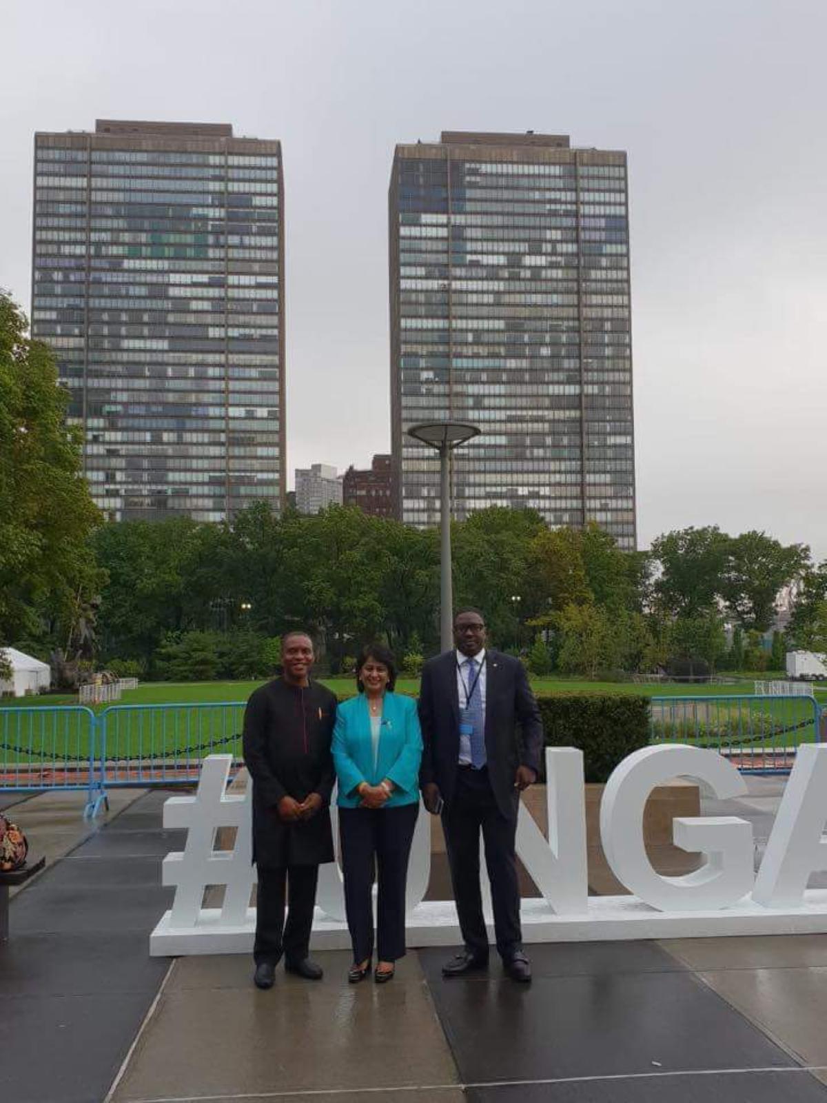 L'ex-présidente de la République, Ameenah Gurib-Fakim est à New-York !