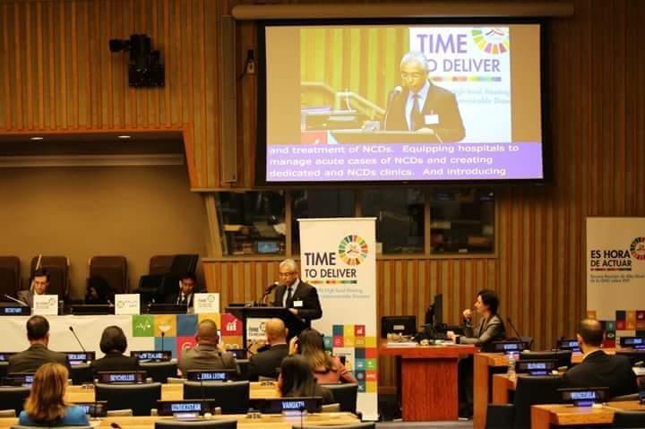 New-York : Pravind Jugnauth à l'ONU lors de la réunion dédiée aux maladies non-transmissibles