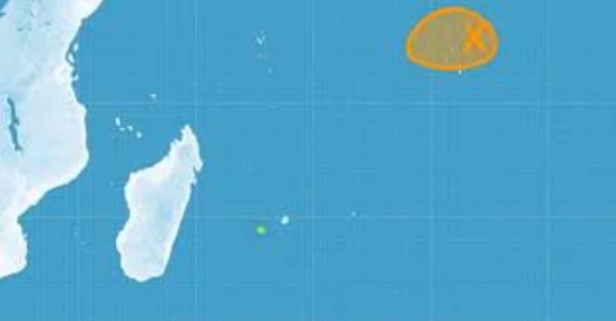 Une zone perturbée au nord de Diego-Garcia