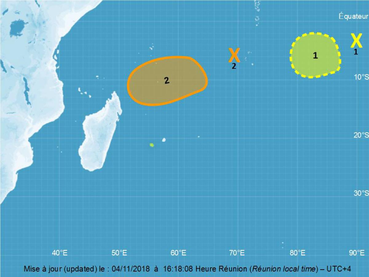 [Météo] 2 systèmes tropicaux sont sous surveillance