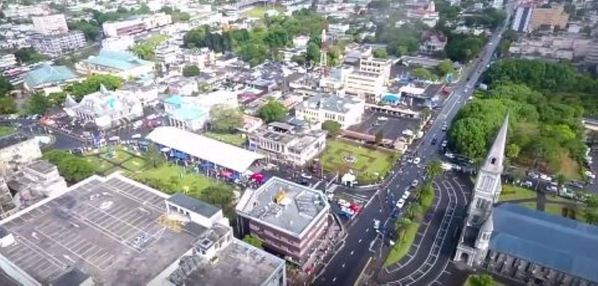 Rallye de Curepipe ce dimanche 18 novembre. Crédit: Drone Maurice.