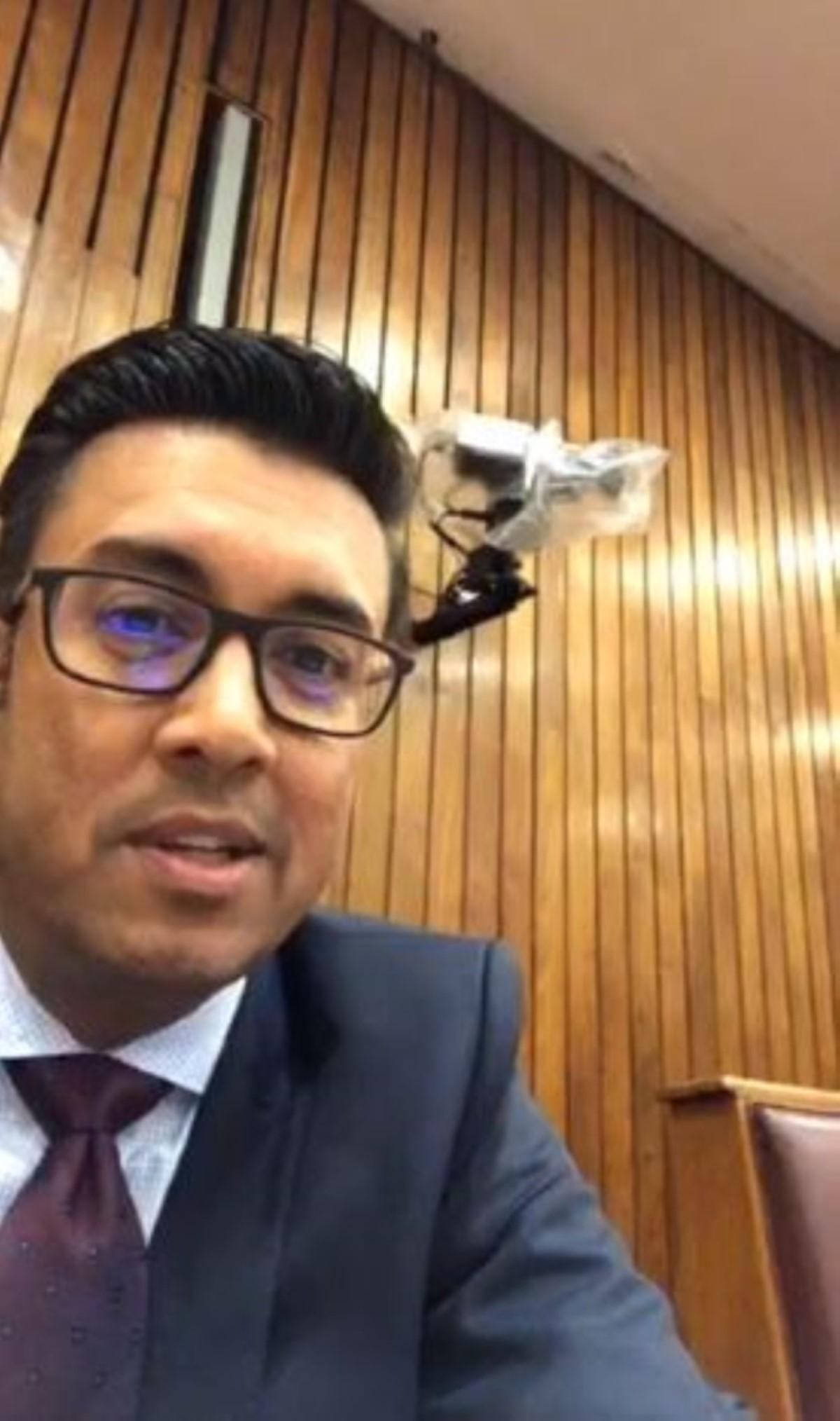 Vidéo à l'Assemblée nationale : Aucune sanction pour Shakeel Mohamed