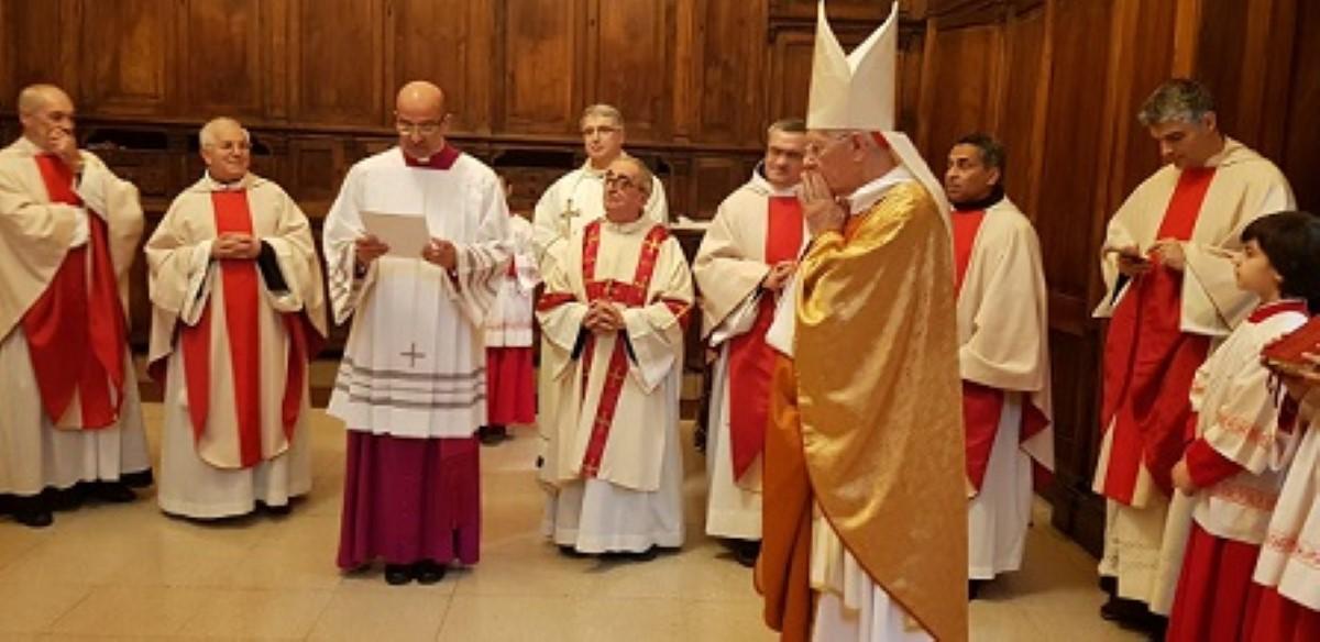 Le Cardinal Piat a pris possession de « sa paroisse » Sainte-Thérèse d'Avila à Rome