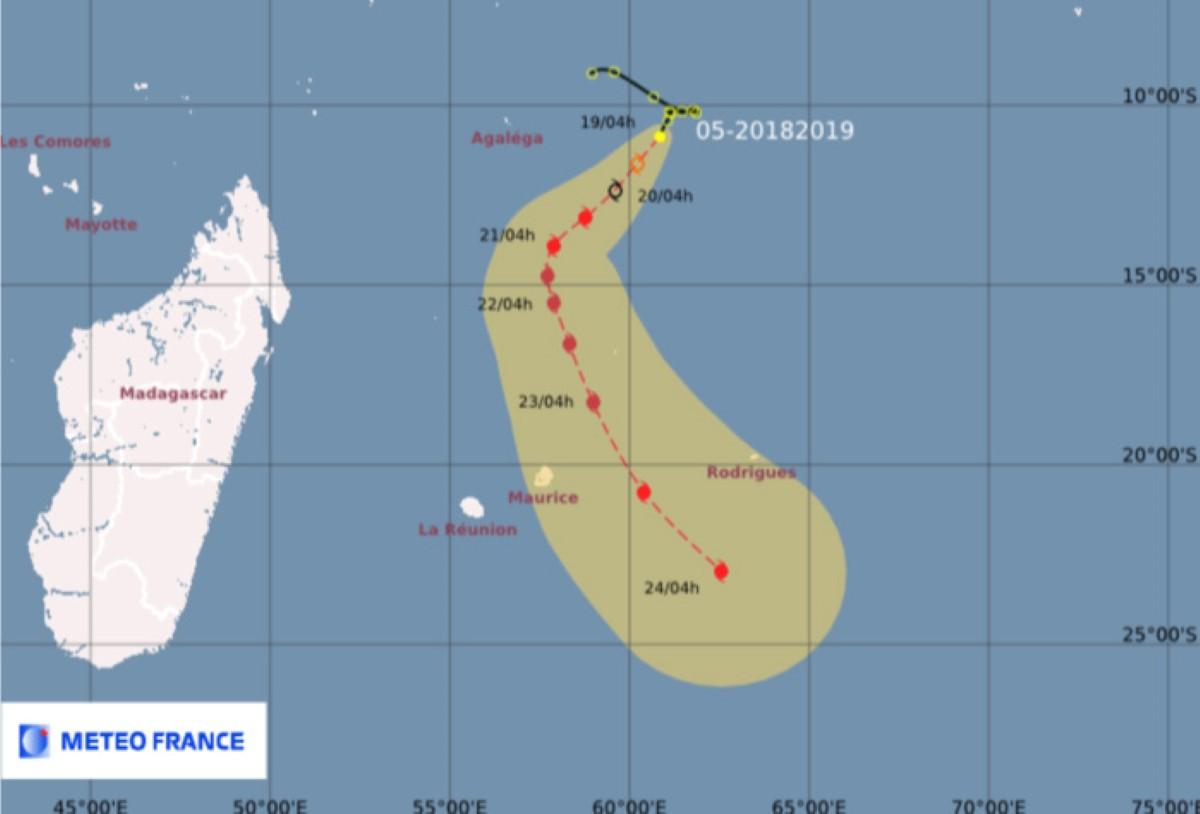 [Météo] La tempête tropicale modérée baptisée Cilida