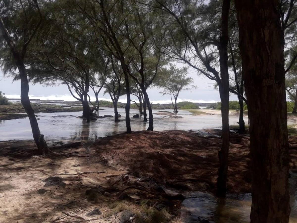[Diaporama]  Poste La Fayette : Brusque montée de la mer