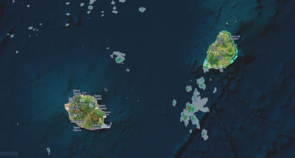 mage radar Météo France Réunion travaillée par Meteoi.re