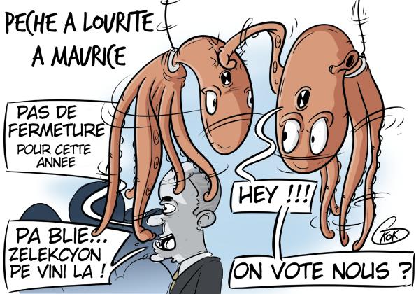 Pas de fermeture de la pêche aux poulpes à Maurice en raison des élections !