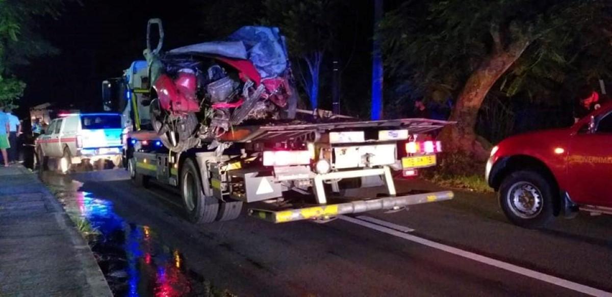 Accident fatal à Mapou : La voiture roulait entre 180 et 200 kilomètres par heure