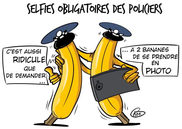 [KOK] Le dessin du jour : Selfies obligatoires des policiers
