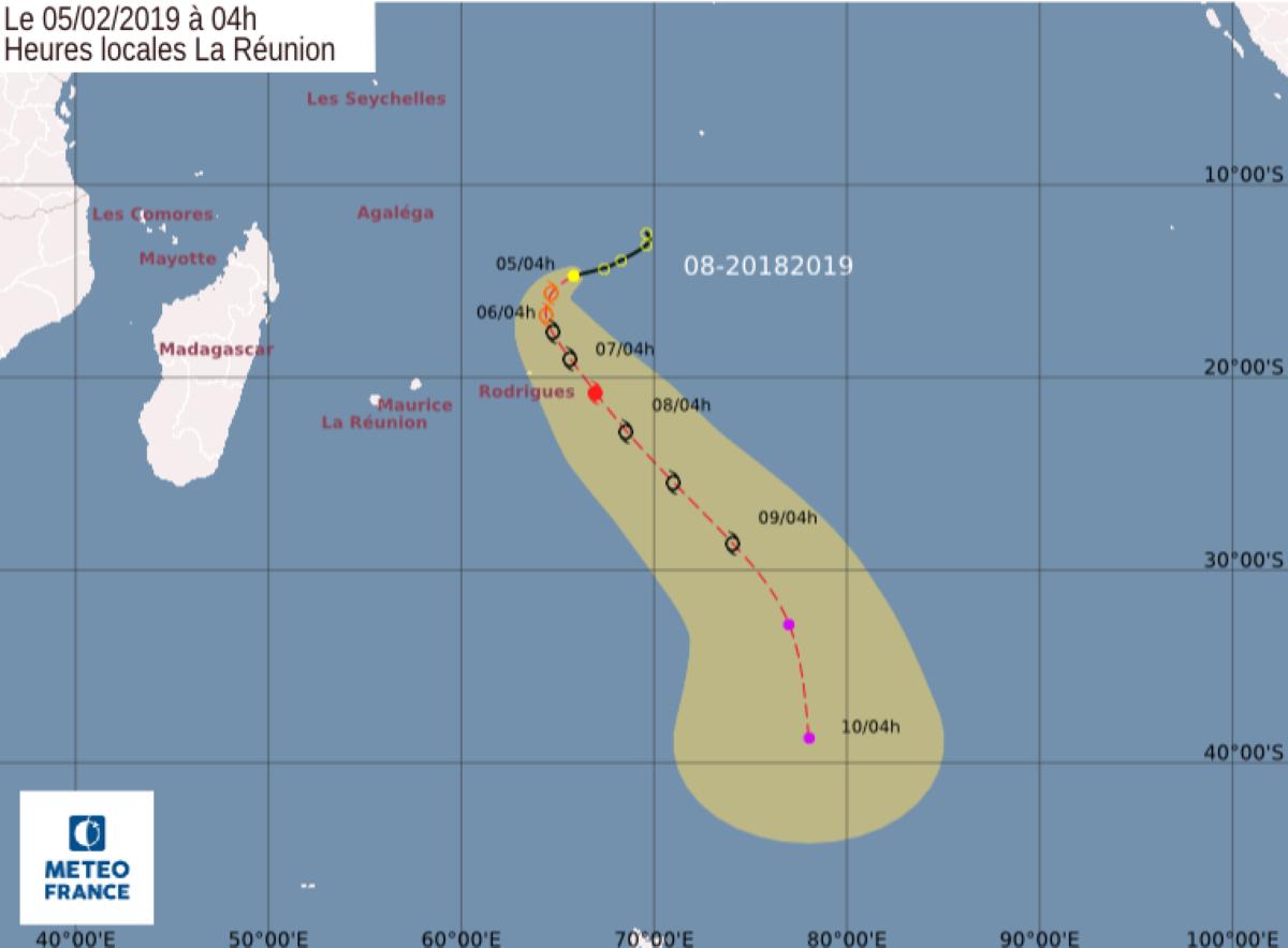 [Météo] Rodrigues est en alerte cyclonique avertissement de classe 1